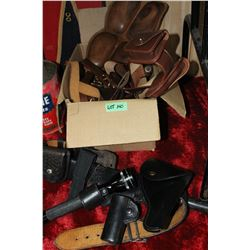 Box of Police Belts and Holsters