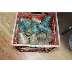 Red Crate of Insulators