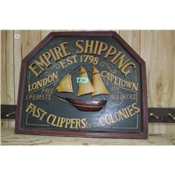 Empire Shipping Sign - Carved from Wood