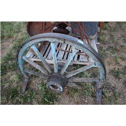 Half Wagon Wheel on a Stand