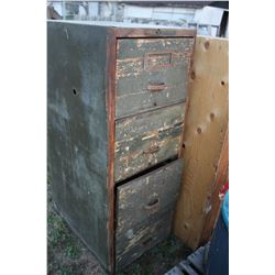 Wooden Military File Cabinet