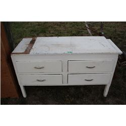 Canadiana Cabinet with 4 Drawers & Pull out Extension