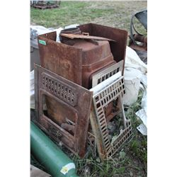 Old Cast Stove - in pieces