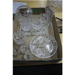 Flat of Carved Glass Items