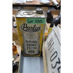 Peerless Brake Fluid Tin