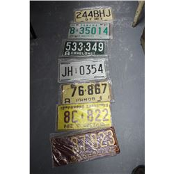 Flat of 50+ License Plates - 2 Canadian - the rest U.S.A.