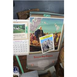 2 Hudson's Bay Posters & 3 Advertising Calendars