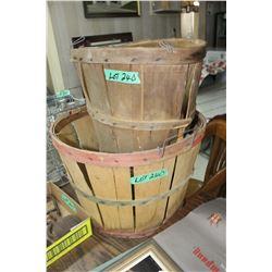 2 Different Shaped Bushel Fruit Baskets