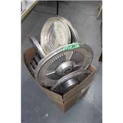 Box of 11 Hub Caps - Chev., GMC, Ford & Mercury