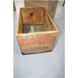 British Columbia Apple Box