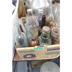 Box of Collectible Jars & Bottles