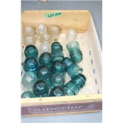 Box of 20+ Insulators