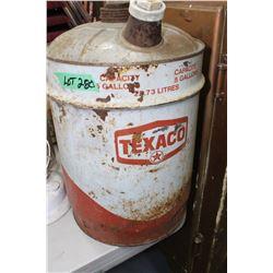Texaco 5 Gallon Oil Can