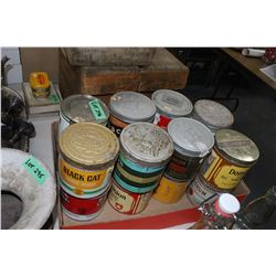 16 Tobacco Tins with Lids