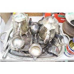 Tray of Silver Plate Ware