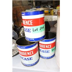3 St. Lawrence Grease Tins