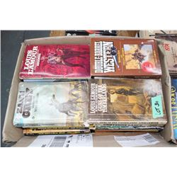Box of Western Books - Zane Grey, Louis L'Amour, etc.