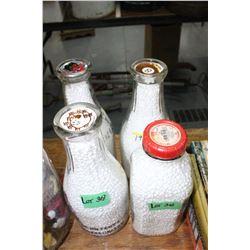 4 Milk Bottles