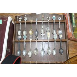 Spoon Rack with Collector Spoons