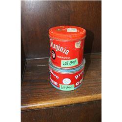 Blue Ribbon Coffee Tin & an Old Virginia Tobacco Tin
