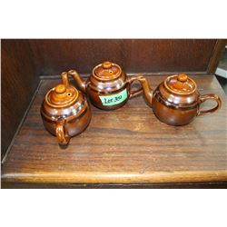 3 Restaurant Tea Pots (Ceramic)