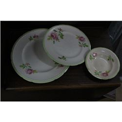 Set of Swinnertons, Staffordshire, Eng. Dishes (Majestic Vellum) - 1939 Wedding Present