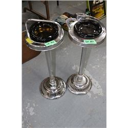 2 Floor Ashtray Stands with the Ashtrays - No Lighters