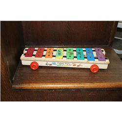 Vintage Fisher Price Wooden Base Xylophone