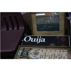 Menu, Serving Tray & a Ouija Board