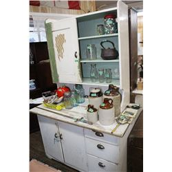 2 pc. Wooden Canadiana Cabinet