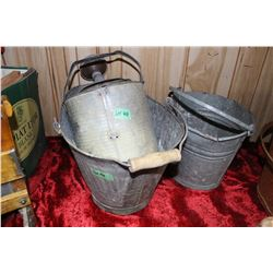Coal Skuttle,  Galvanized Watering Can & a Galvanized Pail