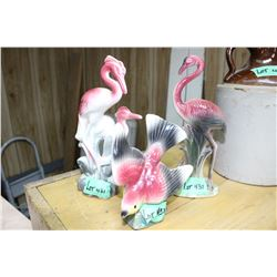 3 Bird Figurines