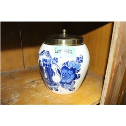 Blue Delft Jar with Lid