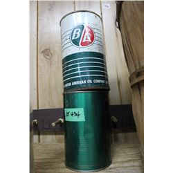 BA & Esso Oil Tins