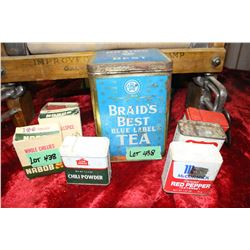 Braids Best Tea Tin & 6 Spice Tins