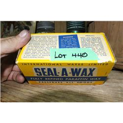 1 Pound Brick of Paraffin Wax in the Orig. Box - Cost was 26¢