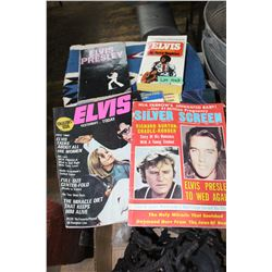 Collection of Elvis Gossip Magazines, Calendar & 2 Books on Elvis