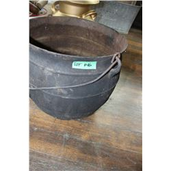 Cast Iron Cauldron - Bottom Fits into a Stove Lid