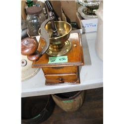 Brass Top Coffee Grinder