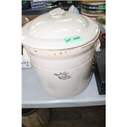 #3 Crown Crock (in Good Condition) with a Damaged Lid