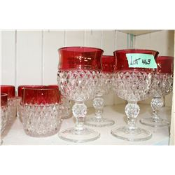 13 pc. Ruby Top Glass Collection