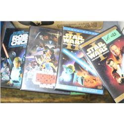 5 Star Wars DVD's