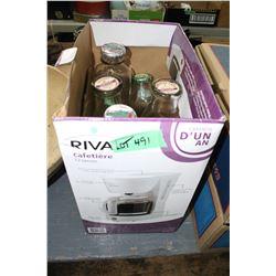 4 Milk Bottles - Barrhead Dairy Tops & an Avalon Cream Bottle