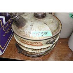 Kralinator Oil Filters & Cartridge Gas Can w/All 3 Lids