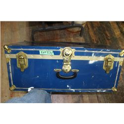 Mid-Sized Blue Shipping Trunk