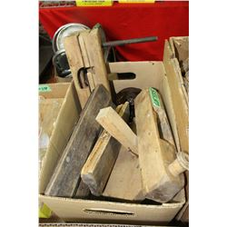 Box of Antique Wood Tools