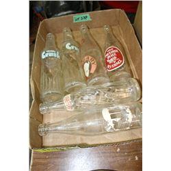 Rare KIK Cola Bottle - 1959 Pepsi Bottle, 2 Orange Crush Bottles, Calgary Brewing & Prairie Rose Bev