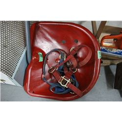 Red Tractor Seat (Not Cast) & 2 Halters