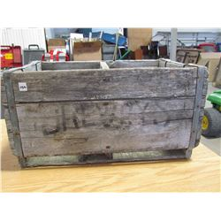 Wooden crate 2 compartments