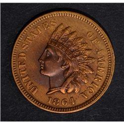 """1864 """"L"""" INDIAN CENT, AU/BU discolored"""